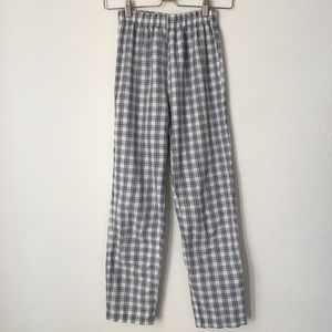 Brandy Melville Lucy Blue and White Plaid Pants
